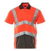 50117-949-A49 Poloshirt - hi-vis rood/donkerantraciet