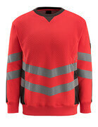 50126-932-22218 Sweatshirt - Hi-vis rouge/Anthracite foncé