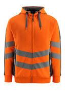 50138-932-1418 Sweat capuche zippé - Hi-vis orange/Anthracite foncé