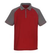 50302-260-02888 Poloshirt met borstzak - rood/antraciet