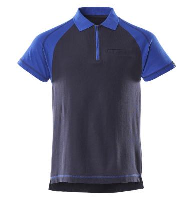 50302-260-111 Poloshirt met borstzak - marine/korenblauw