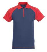 50302-260-12 Poloshirt met borstzak - marine/rood