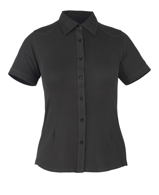 50374-863-09 Overhemd, met korte mouwen - zwart
