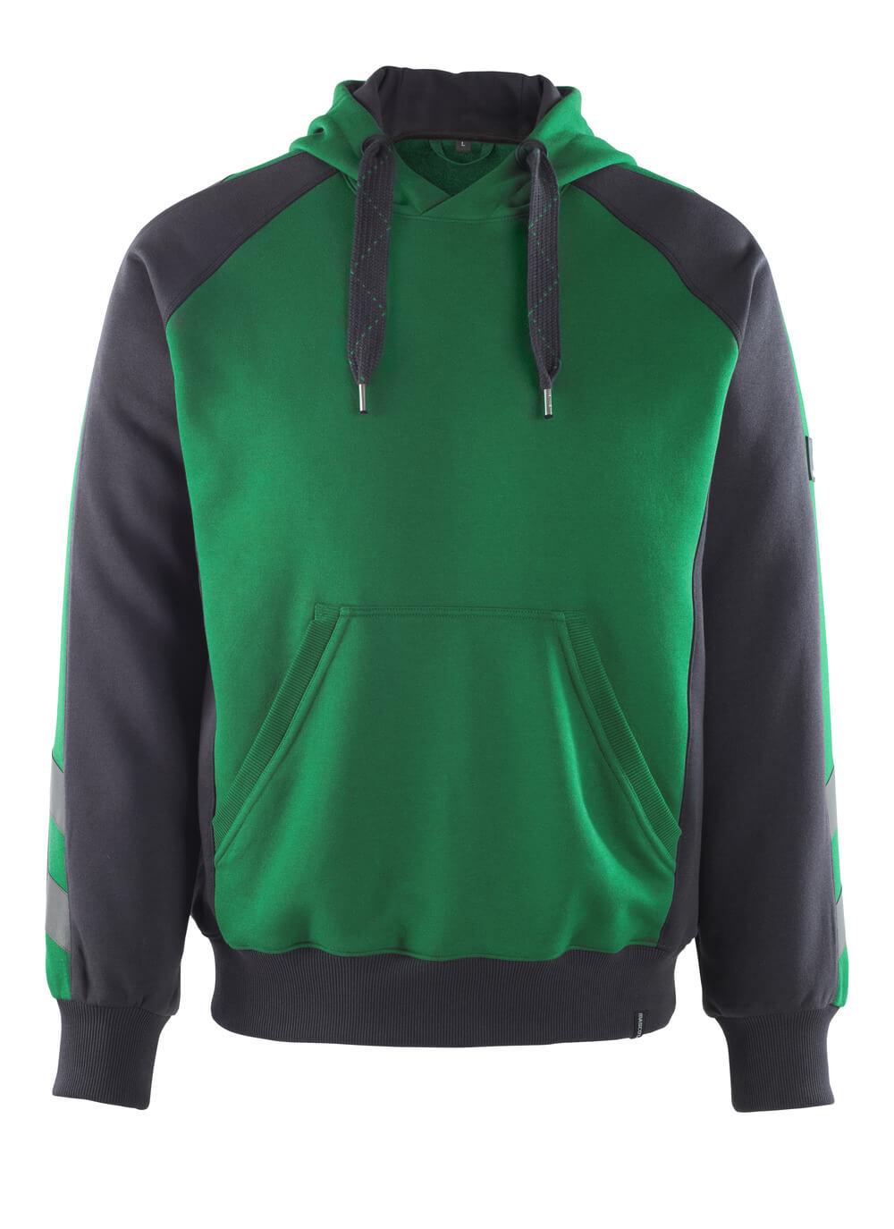 50508-811-0309 Sweat capuche - Vert bouteille/Noir