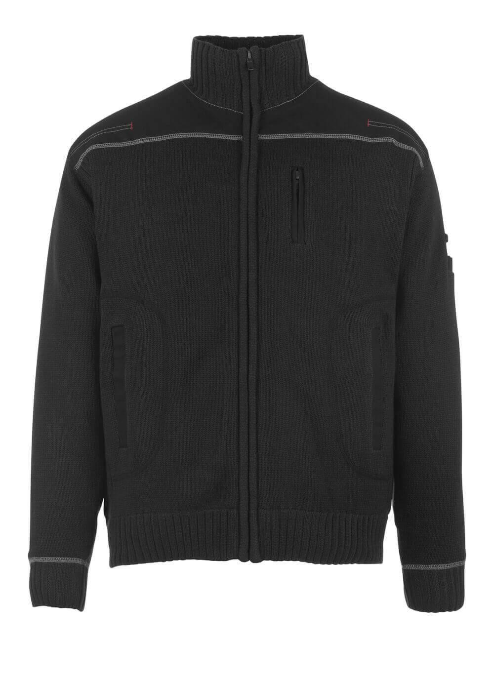 50530-835-09 Pull zippé - Noir
