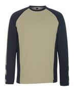 50568-959-5509 T-shirt, manches longues - Sable clair/Noir