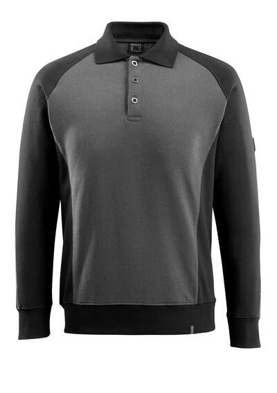 50610-962-1809 Polosweatshirt - donkerantraciet/zwart