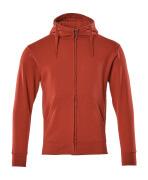51590-970-02 Sweat capuche zippé - Rouge