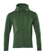 51590-970-03 Sweat capuche zippé - Vert bouteille
