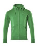 51590-970-333 Capuchontrui met rits - helder groen