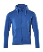 51590-970-91 Capuchontrui met rits - helder blauw
