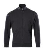 51591-970-09 Sweatshirt met rits - zwart