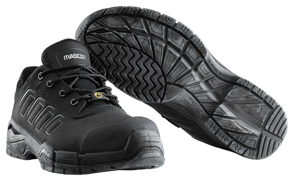 F0113-937-09 Veiligheidsschoenen, laag - zwart