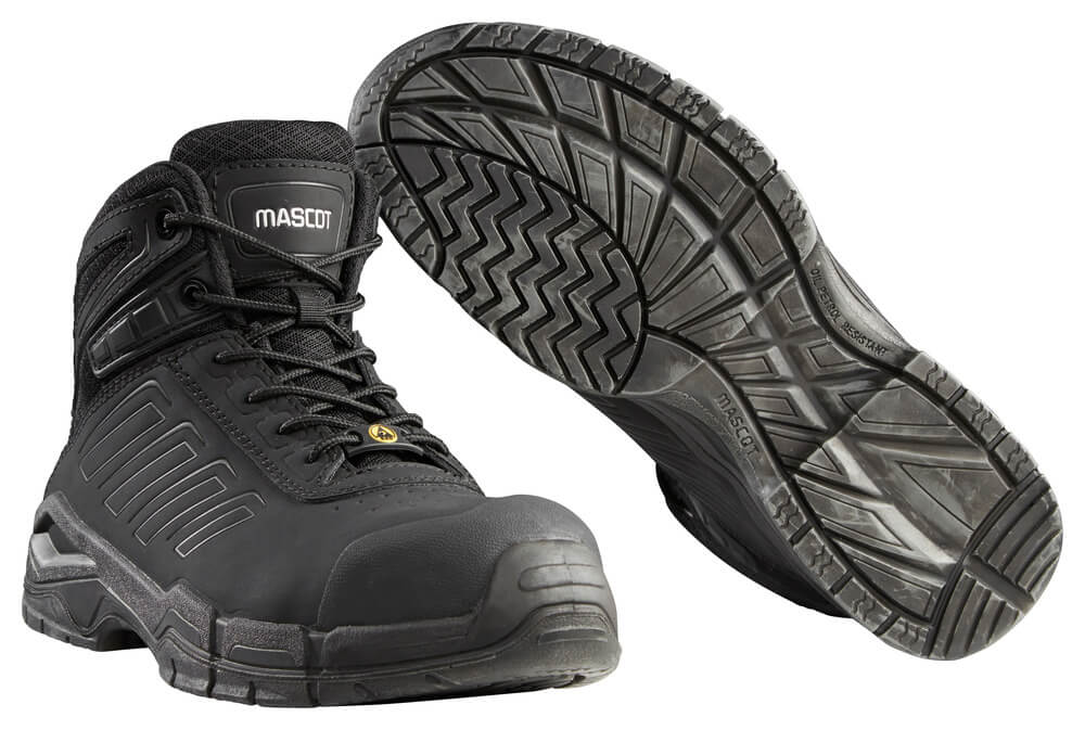F0114-937-09 Chaussures de sécurité hautes - Noir