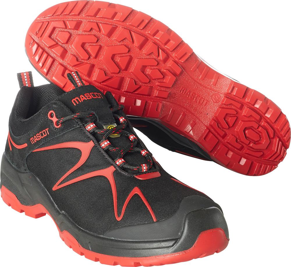 F0121-770-0902 Veiligheidsschoenen, laag - zwart/rood