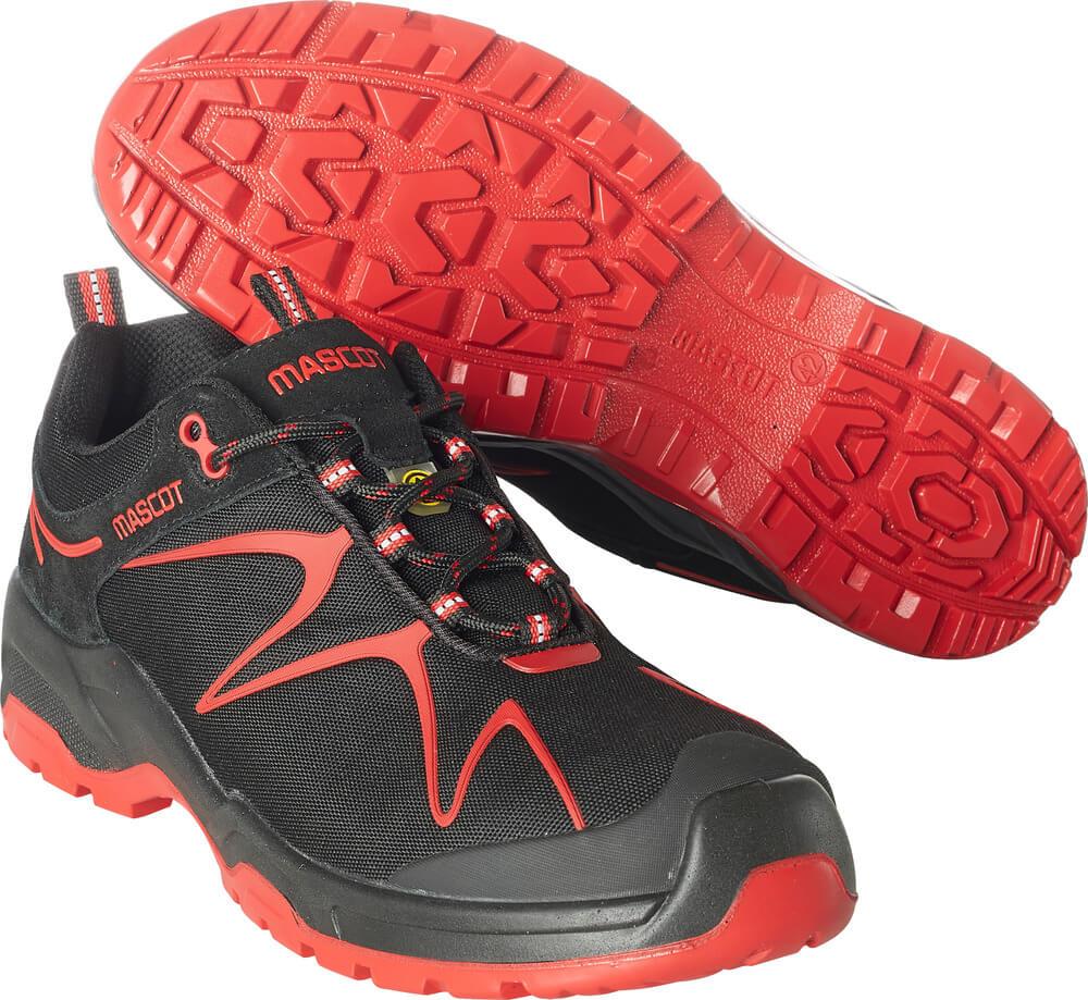 F0121-770-0902 Veiligheidsschoenen (laag) - zwart/rood