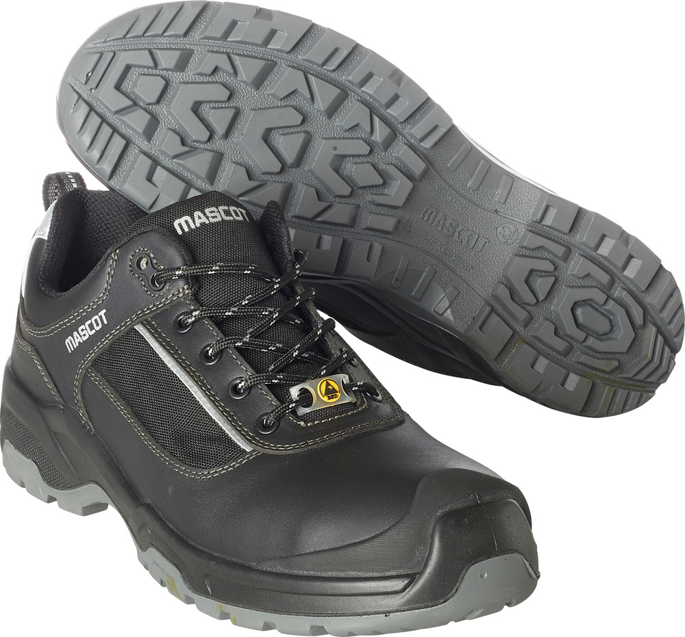 F0126-774-09880 Veiligheidsschoenen, laag - Zwart/Zilver