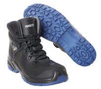 F0141-902-0901 Veiligheidsschoenen (hoog) - zwart/korenblauw