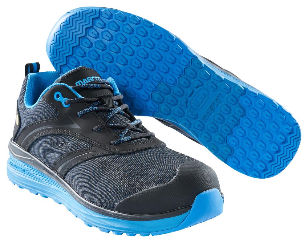 F0250-909-0911 Chaussures de sécurité basses - Noir/Bleu roi