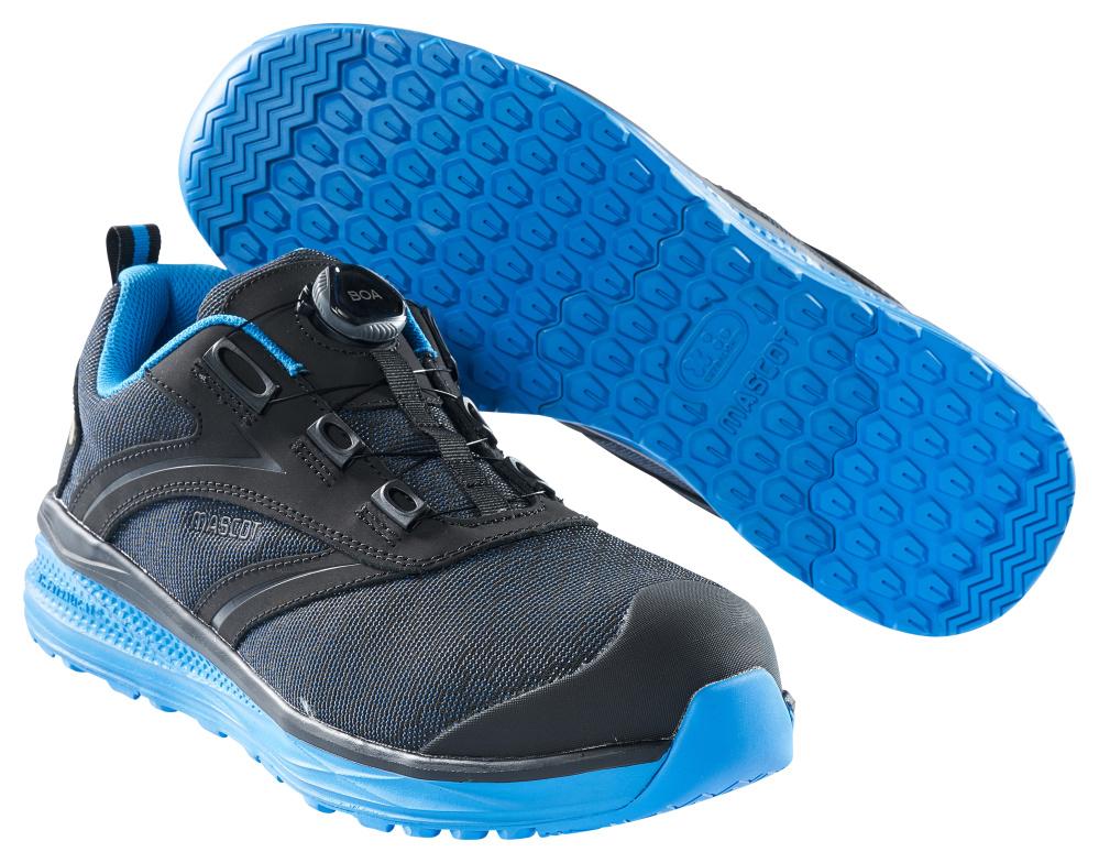 F0251-909-0911 Veiligheidsschoenen (laag) - zwart/korenblauw