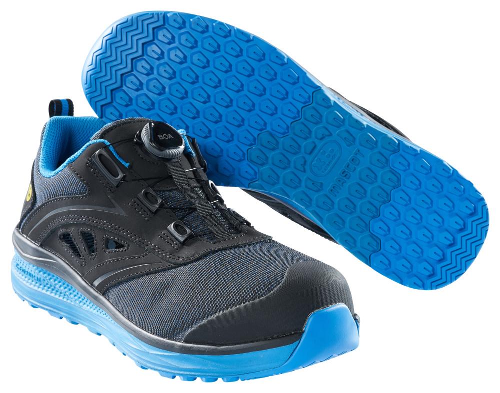 F0252-909-0911 Sandales de sécurité - Noir/Bleu roi